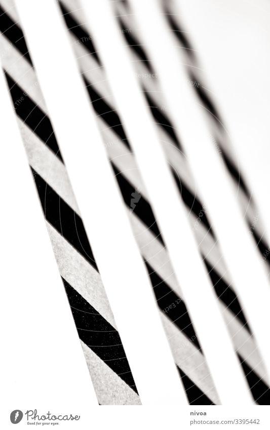 Washi Tape Streifen Sticker Washi-Tape Strukturen & Formen Schwarzweißfoto Innenaufnahme Tag Linie Schatten Kontrast Textfreiraum oben Menschenleer Muster
