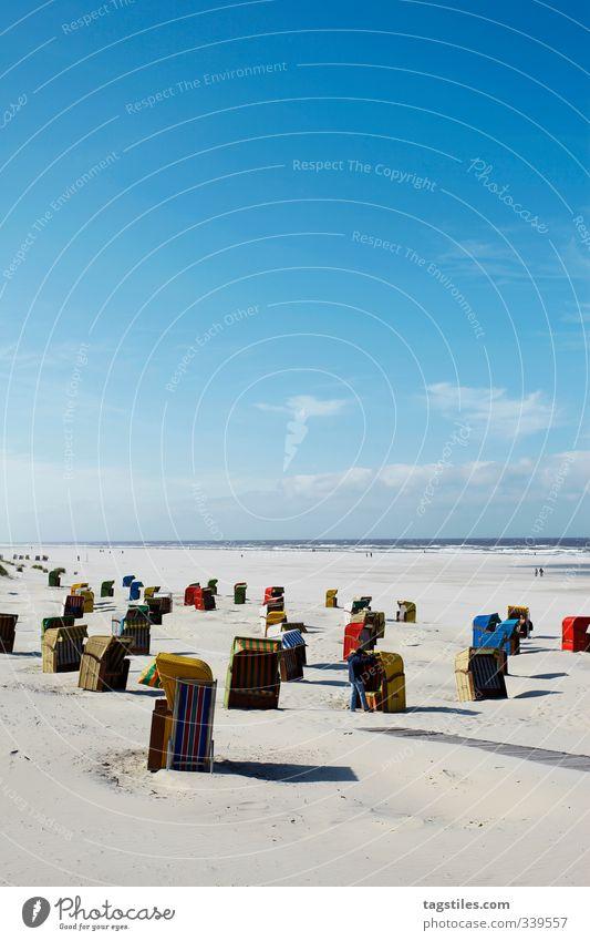 JUIST Juist Deutschland Insel Strand Strandkorb mehrfarbig Ferien & Urlaub & Reisen Reisefotografie Reiseroute Nordsee Paradies Idylle Erholung Natur Küste