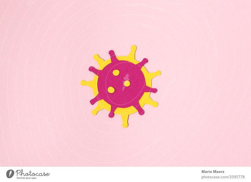 Coronavirus - Abstrakt Virus Medizin Grippe Impfung Forschung Gesundheit Krankheit Seuche Infektion Nahaufnahme Hintergrund neutral einzeln abstrakt