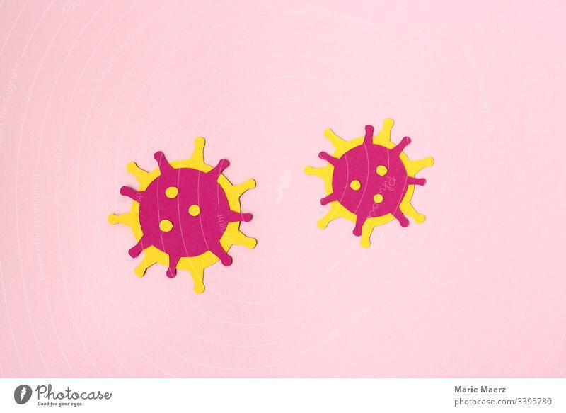 Coronavirus - Abstrakte Virus Illustration aus Papier Medizin mikroskopisch Grafik u. Illustration Krankheit Gesundheit Nahaufnahme Wissenschaften Grippe