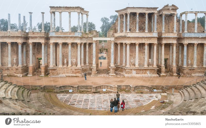 Erstaunliches altes römisches Theater in Merida, Spanien Erbe unesco Wahrzeichen merida Römer Architektur Kultur reisen antik Ruine Schauplatz Europa Tourismus