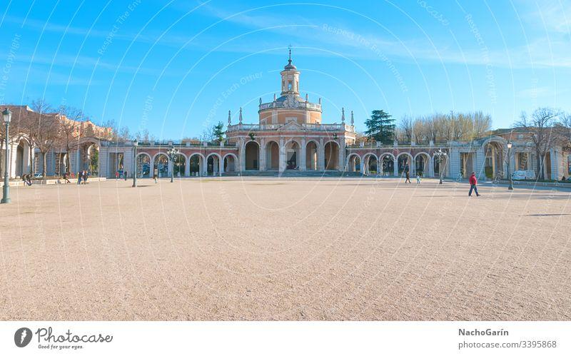 San-Antonio-Platz in Aranjuez, Madrid, Spanien aranjuez Architektur Quadrat antonio san Palast Europa Gebäude Tourismus reisen alt Kirche historisch berühmt