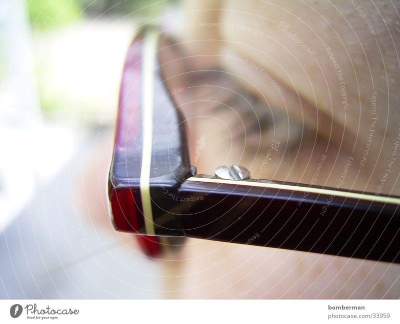 Die Brille Makroaufnahme Nahaufnahme Auge