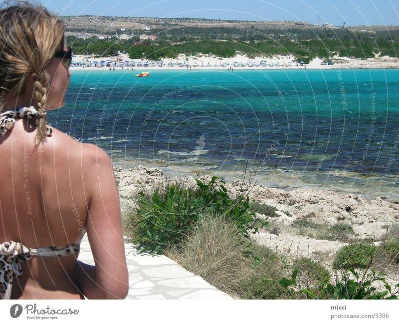 Go to the beach Natur Sonne Meer Strand Ferien & Urlaub & Reisen Sand Europa Bikini Zypern