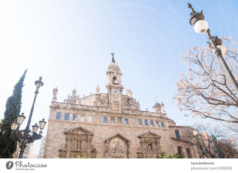 Kirche Esgelesia de Sant Joan del Mercat in Valencia, Spanien Architektur Gebäude katholisch Europa Außenseite Wahrzeichen alt Spanisch Tourismus Stadt urban