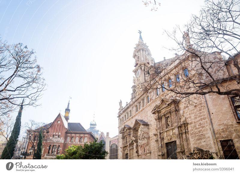 Kirche Esgelesia de Sant Joan del Mercat und zentraler Markt in Valencia, Spanien Architektur Gebäude katholisch Europa Außenseite Wahrzeichen alt Spanisch