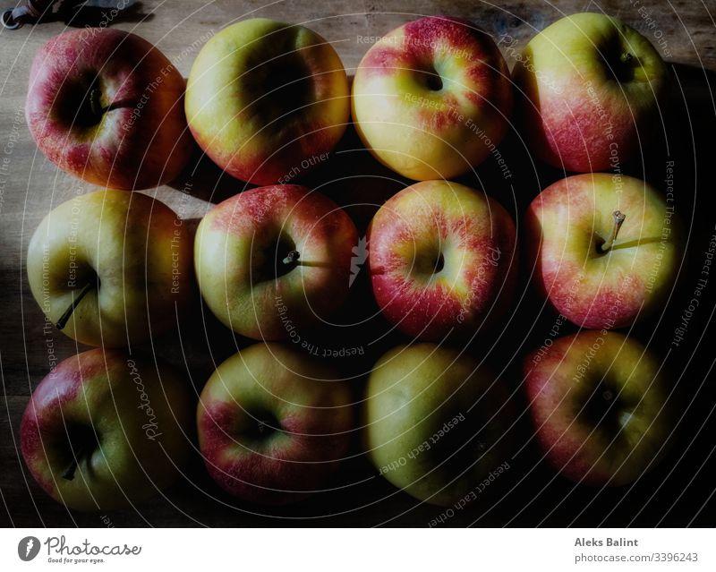 Äpfel Apfel Gesundheit lecker Frucht frisch Lebensmittel Vegetarische Ernährung Vegan rot saftig süß
