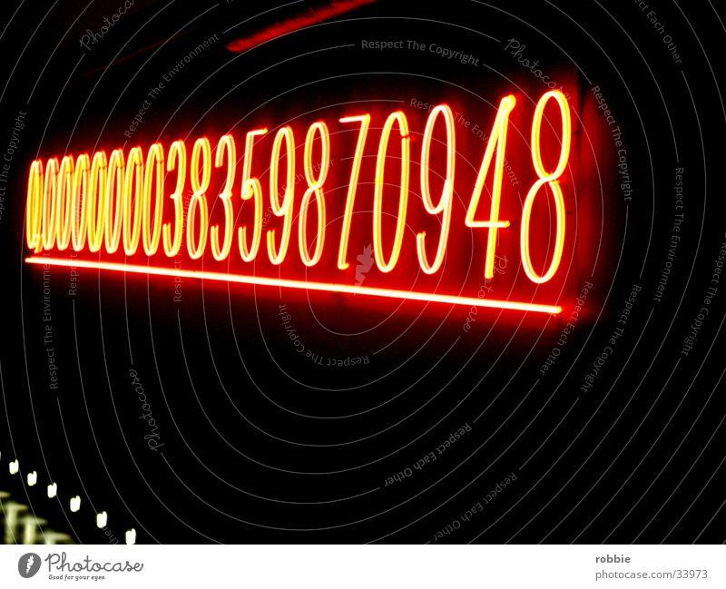 countdown dunkel Elektrisches Gerät Technik & Technologie Ziffern & Zahlen Lampe