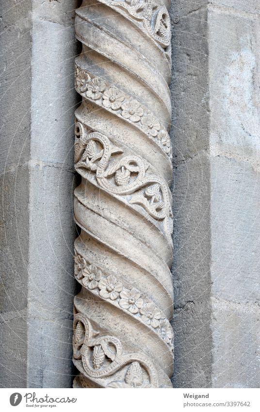 Säule Kirche gotisch Portal Stein steimetz Architektur Farbfoto Wahrzeichen