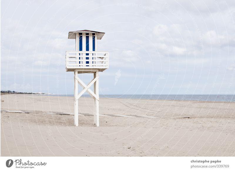 Baywatch Ferien & Urlaub & Reisen Himmel Wolken Küste Strand Meer Atlantik Menschenleer Hütte Hochsitz beobachten stehen Einsamkeit Costa de la Luz Spanien