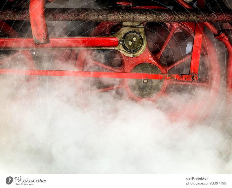 Eisenbahnromantik in Wernigerode im Harz Schmalspurbahn Ferien & Urlaub & Reisen Gleise Schienen Dampfwolke Freiheit Winter Schönes Wetter Winterurlaub Ausflug