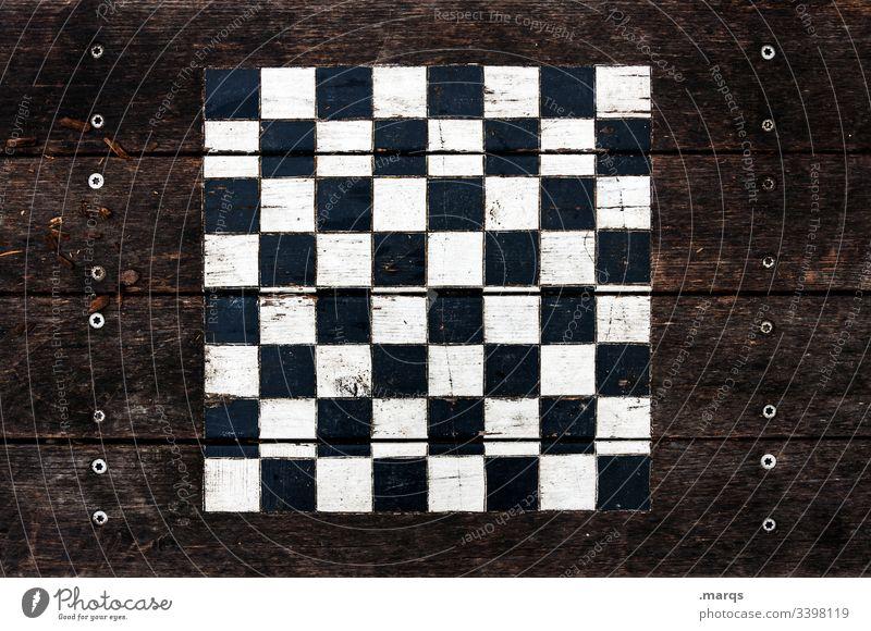 Outdoor-Schachbrett Muster Tisch schachspiel Holz Freizeit & Hobby Spielen Konzentration Denken Brettspiel Denksportaufgabe braun