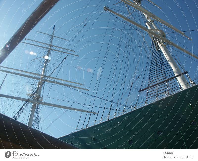 segelschiff Himmel Sommer Wasserfahrzeug Technik & Technologie Hafen Strommast Segelschiff Elektrisches Gerät