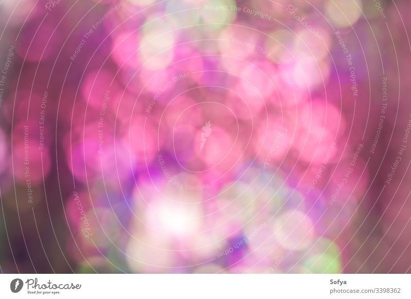 Abstrakte Unschärfe Paillettenkleid Farbe bokeh heller Hintergrund. Rosa- und Grüntöne weich Tapete glänzend Licht Design kreisen glühend Einfluss Bokeh schön