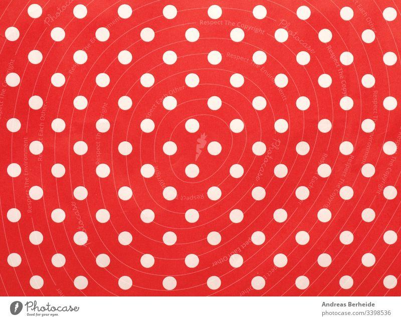 Papiertextur mit weißen Punkten auf Rot als Hintergrund Bild Punktmuster texturiert einfach Material Detailaufnahme Feiertag Reihe Deckung modern Verpackung