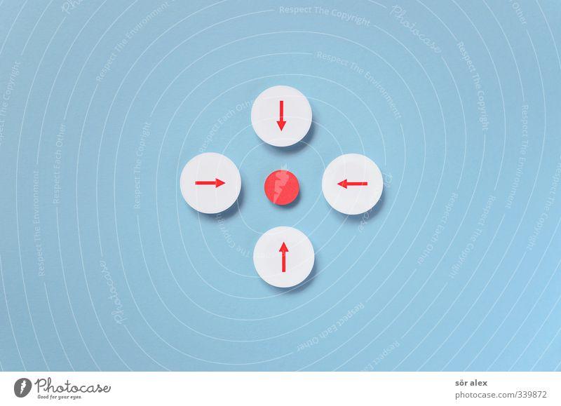 Zentrales-Mittelfeld blau weiß rot Zusammensein Business Erfolg Industrie Zeichen Punkt Ziel Team Pfeil Sitzung Dienstleistungsgewerbe Wirtschaft Teamwork