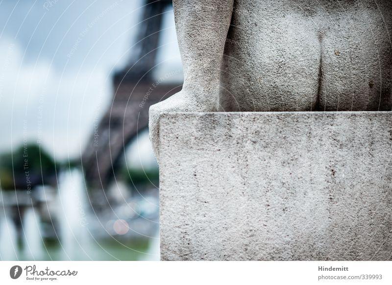 Am A...bend in Paris Himmel Ferien & Urlaub & Reisen blau grün Hand Wolken Ferne lustig Architektur Gebäude grau Kunst groß Tourismus hoch Turm