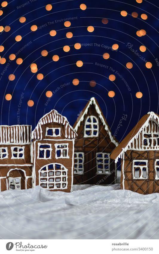 hier riechts doch nach...  | Weihnachten mit Lebkuchenhäusern Fassade Weihnachtbäckerei backen Stadt Dorf selbstgebacken Plätzchen Kekse Advent Adventszeit