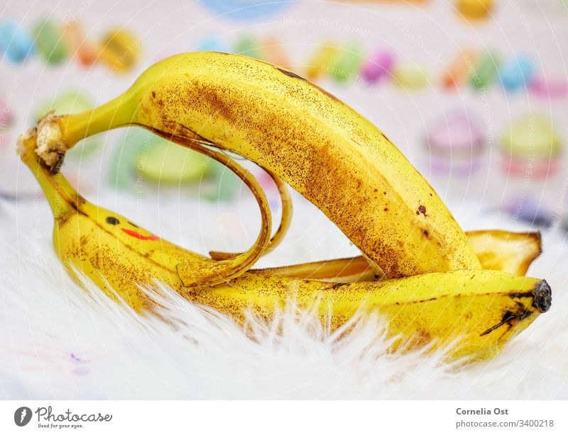 Banana-Love Obst, Früchte, Vitamine, Banane, Himbeere,gesund essen, Lebensmittel Gesundheit Gesunde Ernährung lecker Lecke Farbfoto Vegetarische Ernährung