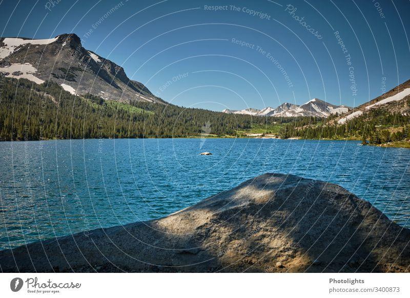 Tioga Pass - Yosemite NP - See Außenaufnahme Berge u. Gebirge blau Schönes Wetter Himmel Farbe Klettern Natur Farbfoto USA Inspiration einzigartig Idylle