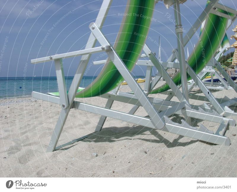 Strandleben Meer Stimmung Erholung Sand Natur genießen