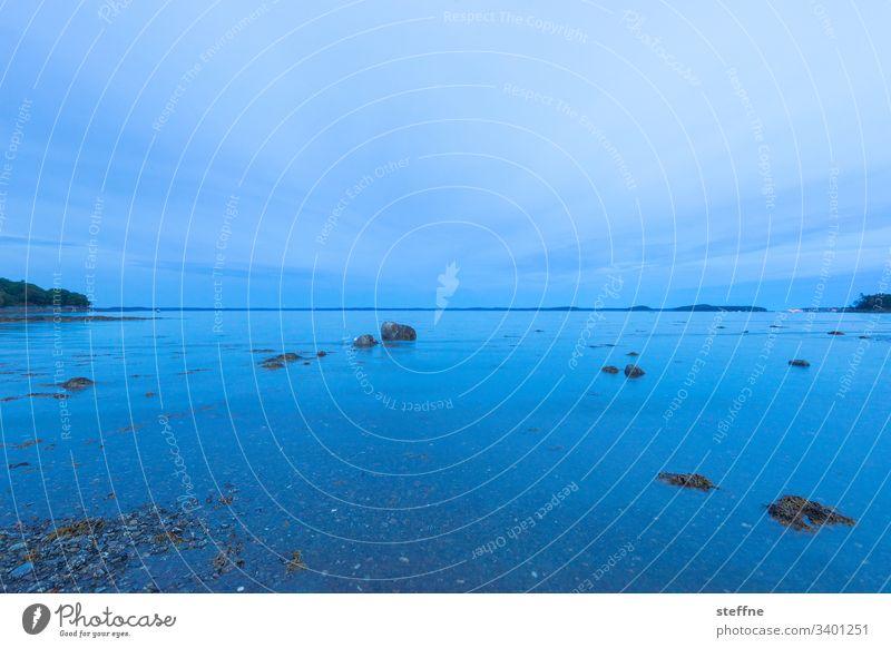 Daemmerung am Meer Dämmerung ufer Meeresufer Maine blau Langzeitbelichtung stille Harmonie entspannung entspannend Urlaub