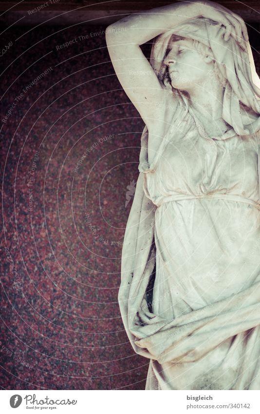 Statue Liebe Tod Traurigkeit grau Stein braun Trauer violett Leidenschaft Schmerz Skulptur Liebeskummer Erschöpfung