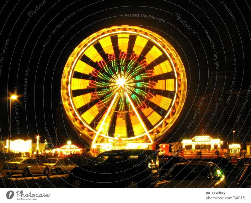 Treppeneffekt Riesenrad Nacht Langzeitbelichtung Freizeit & Hobby