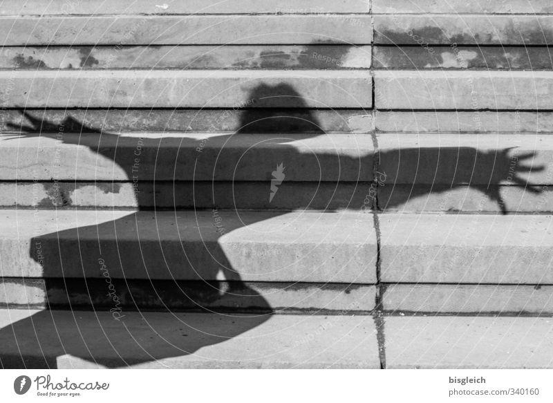 Treppenschatten Mensch Jugendliche feminin grau fliegen Tanzen