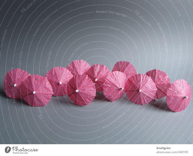 zu viele Cocktails Freude grau klein Stimmung rosa Freizeit & Hobby Dekoration & Verzierung rund Punkt getupft
