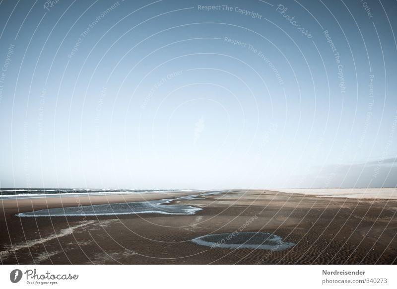 Traumsequenz Ferien & Urlaub & Reisen blau Wasser Sommer Meer Einsamkeit ruhig Strand Wege & Pfade Freiheit Küste Sand träumen braun Tourismus Schönes Wetter