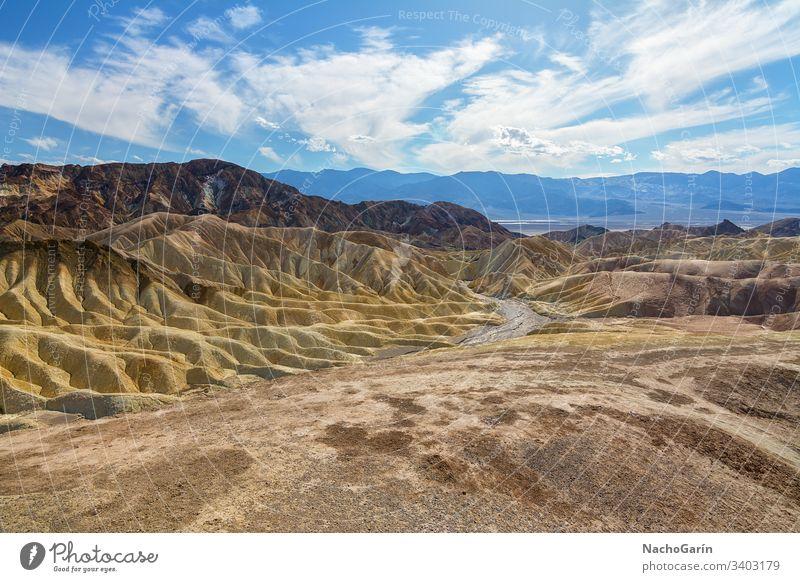 Erstaunlicher Zabriskie-Punkt im Death Valley National Park, Kalifornien, USA Tod Tal national zabriskie Landschaft wüst Sand Ansicht Natur reisen malerisch