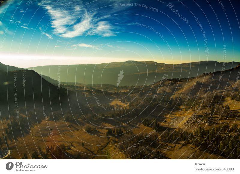 Landschaftspanorama Himmel Natur Ferien & Urlaub & Reisen Sommer Baum Einsamkeit Erholung Tier Wald Berge u. Gebirge Freiheit Felsen Freizeit & Hobby