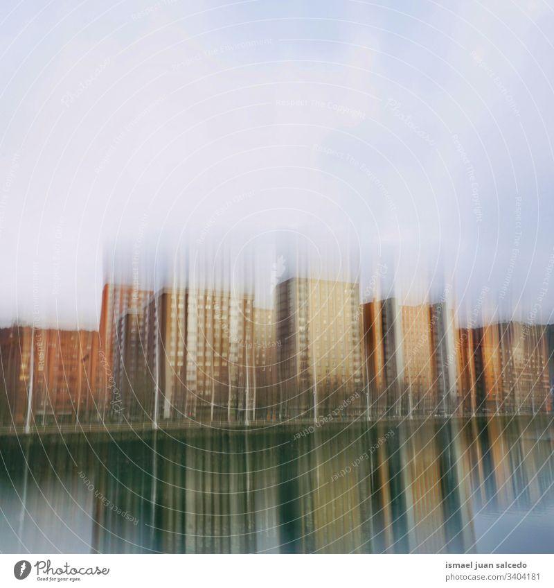 Gebäudearchitektur in der spanischen Stadt Bilbao, Reiseziel Fassade Architektur Struktur abstrakt Außenseite Konstruktion Design Straße im Freien Hintergrund