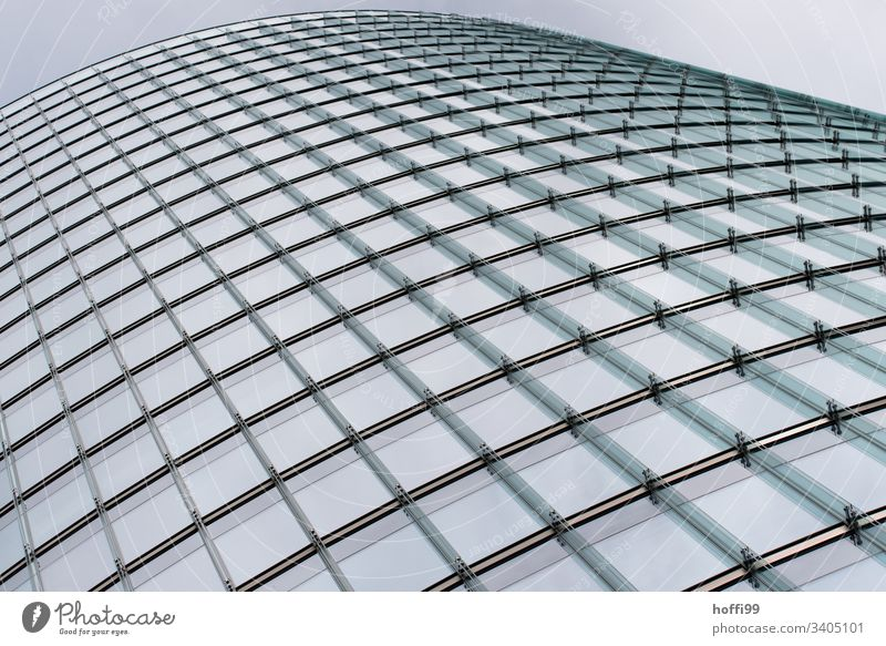 gebogene Glasfassade Berlin Architektur Fenster gekrümmt Fassade Kapitalwirtschaft Geldinstitut Stadtentwicklung Moderne Architektur abstrakt Business Hochhaus
