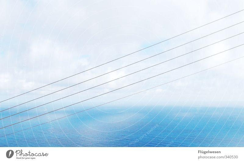 Nr. 777 Wellen Küste Seeufer Nordsee Ostsee Meer Linie Streifen Schnur Knoten Schleife Netz Netzwerk Schwimmen & Baden Stahlkabel Kabel Leitung Strommast