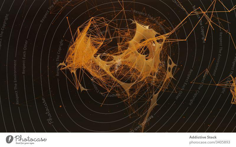 Abstrakter Hintergrund mit gekrümmten und linearen Formen abstrakt Kurve Konzept wellig Linie digital modern graphisch Raum Tapete futuristisch winken kreativ