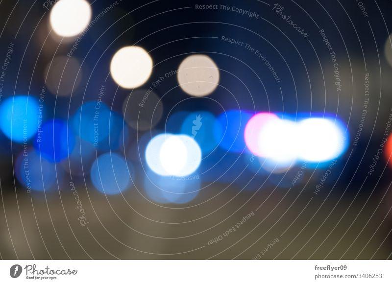Städtisches Bokeh in Blau und Weiß hell modern abstrakt bunt Weihnachten rund Textur Dekoration & Verzierung Nacht Farben Feiertag verschwommen defokussiert