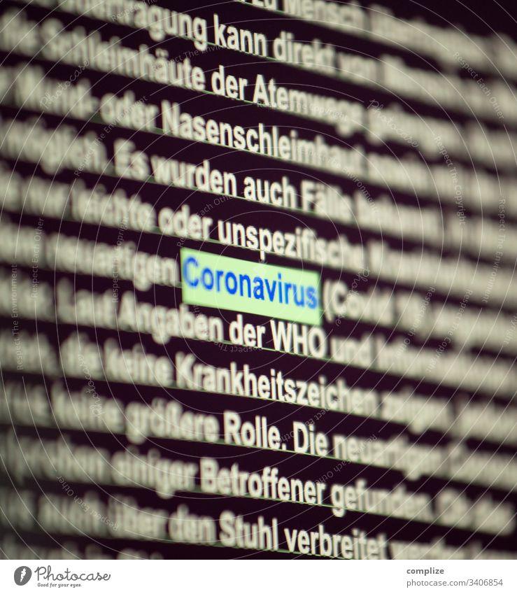 Coronavirus Computer Screen coronavirus covid-19 screen pc arzt information Cursor Maus viren ansteckung Infektion epedemie seuche Medizin