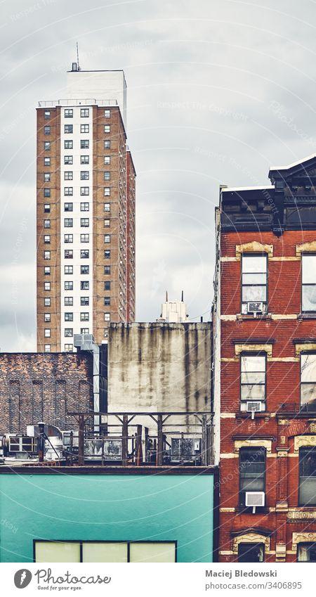 unentdecktes Manhattan, New York. Gebäude Großstadt New York State retro altehrwürdig Architektur USA Grunge urban nyc Appartement Haus Fassade gefiltert