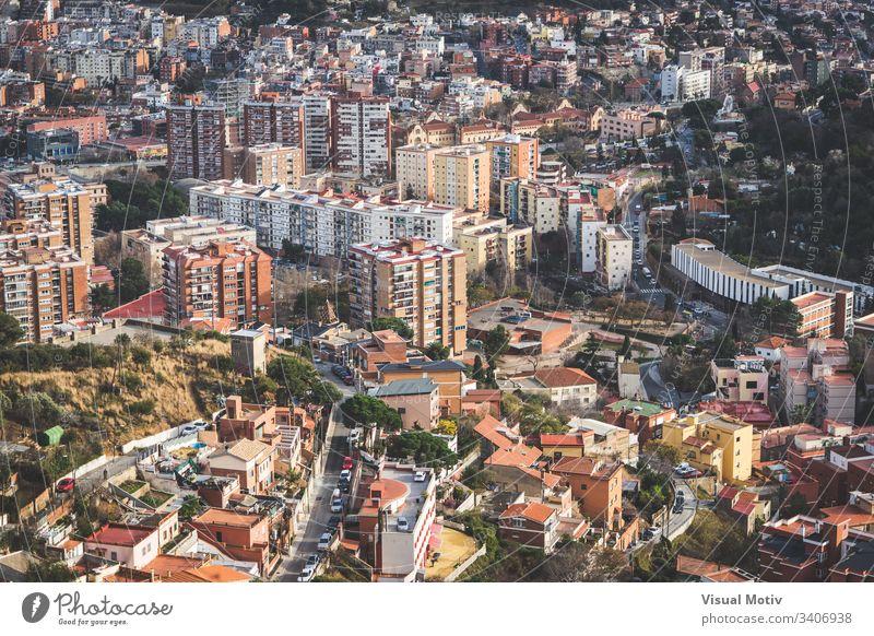 Gebäude der Stadt Barcelona am Nachmittag Nachmittagslicht architektonisch Architektur Hintergrund barcelona city gebäude Gebäudefassade Großstadt Stadtansicht