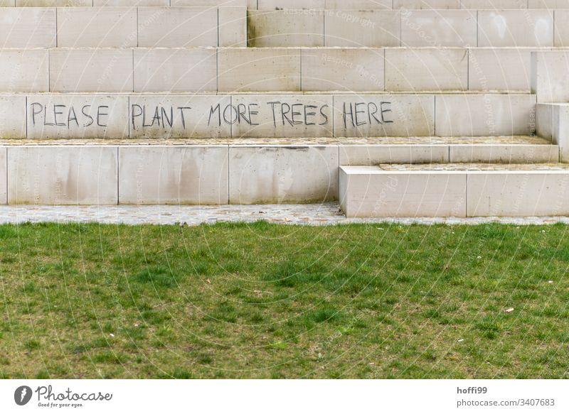 Gesellschaftskritik an Wand Klimawandel Kapitalismuskritik Schriftzeichen Müll Wald Meer Nachdenken Umwelt dreckig Sand Natur Denken Umweltschutz Farbfoto