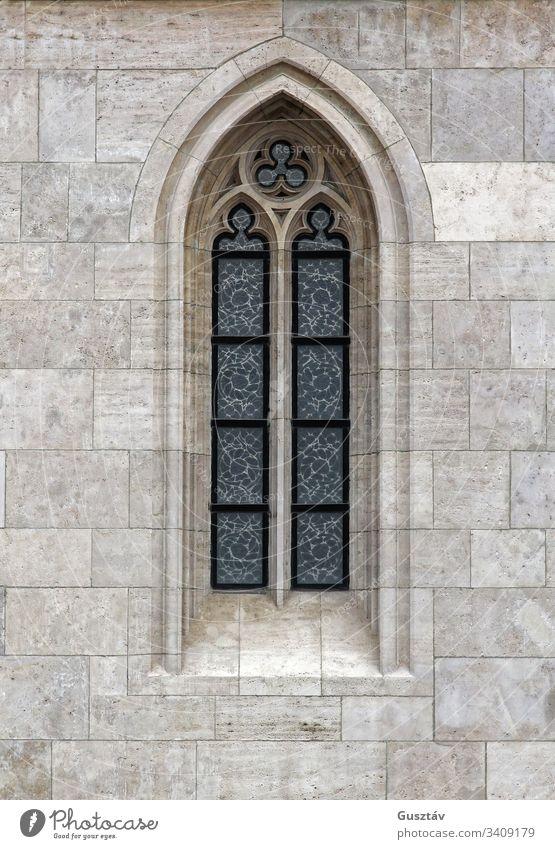 Gotisches Fenster1 gotisch Architektur Kirche Religion Detailaufnahme Kathedrale alt Stein Gebäude mittelalterlich Glas religiös dekorativ Stil Europa