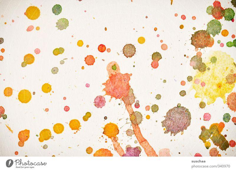 echte kunst? Kunst Kunstwerk Gemälde mehrfarbig Punkt Klekse spritzen Fleck Fasserfarben Aquarell Farbfoto Detailaufnahme abstrakt Muster Strukturen & Formen