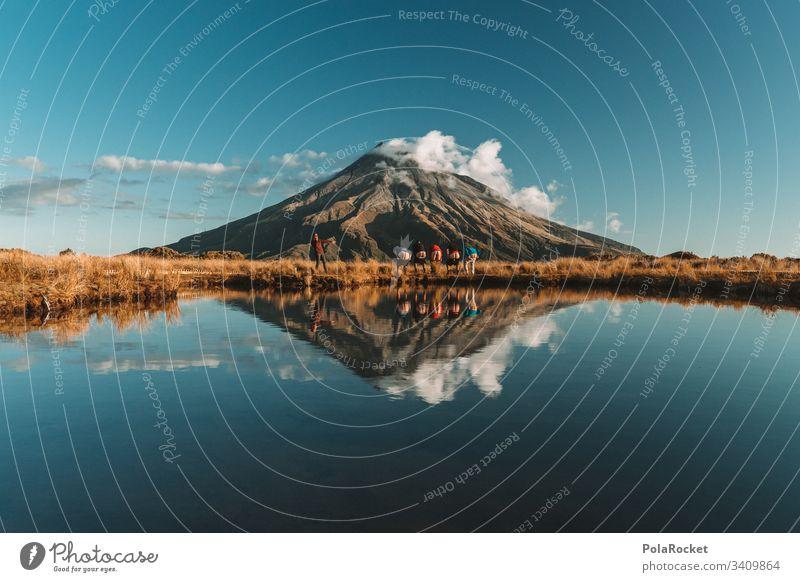 #AS# Arschgeil - 5 Ärsche am Mount Taranaki Mut mutig Freiheit Berg See Bergsee jugend jugendlich besonders außergewöhnlich Freundschaft Reisefotografie