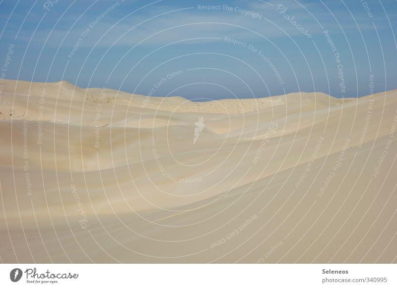 Ruhe bewahren Himmel Natur Ferien & Urlaub & Reisen Sommer Sonne Einsamkeit Erholung Landschaft ruhig Wolken Ferne Strand Umwelt natürlich Sand Horizont