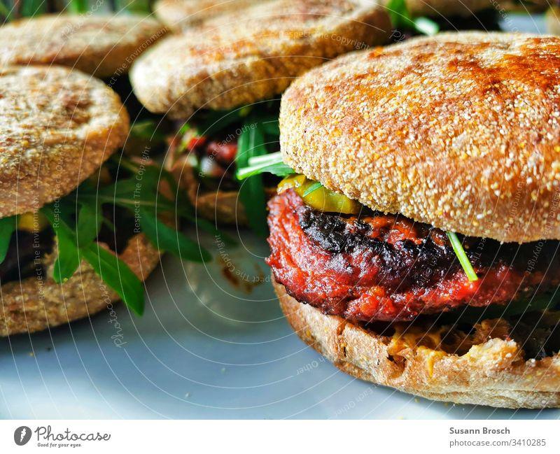 Veggieburger Vegetarische Ernährung Gesundheit Farbfoto Gesunde Ernährung Vegane Ernährung Bioprodukte Foodfotografie Lebensmittel Nahaufnahme Gemüse Essen