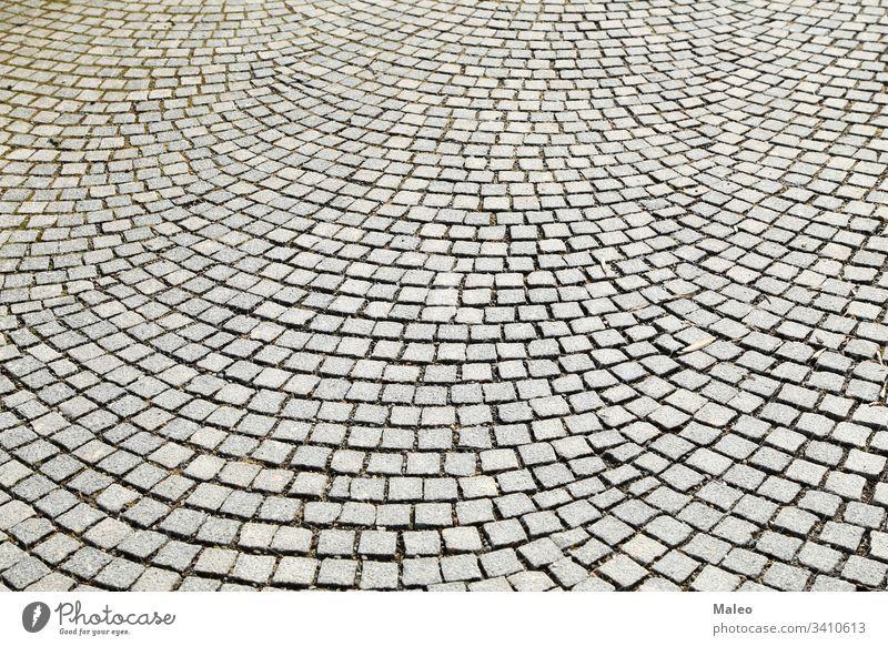 Abstrakter Hintergrund des alten Kopfsteinpflasters in Nahaufnahme abstrakt Abstracts Architektur Klotz Baustein Ziegel schließen konzeptionell Konstruktion