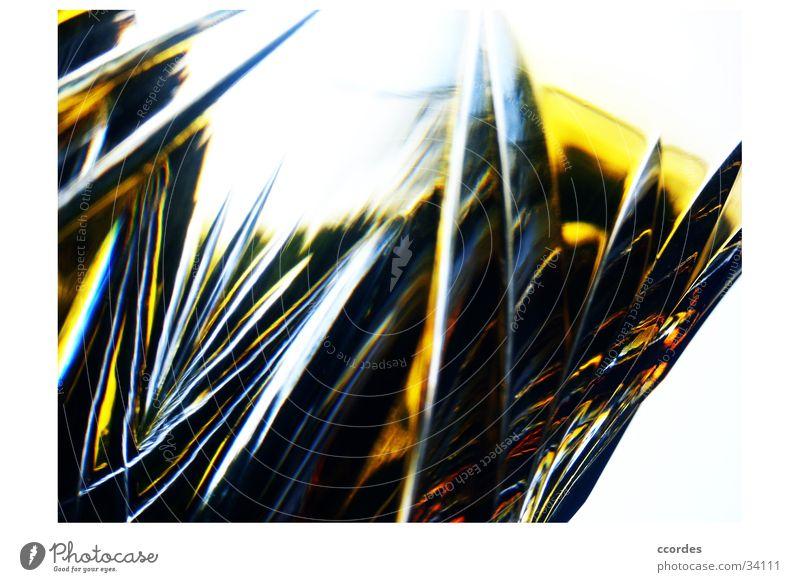 geschliffene Durchsicht gelb Schliff durchsichtig Muster Relief antik außergewöhnlich Makroaufnahme Nahaufnahme Glas alt unsichtbar