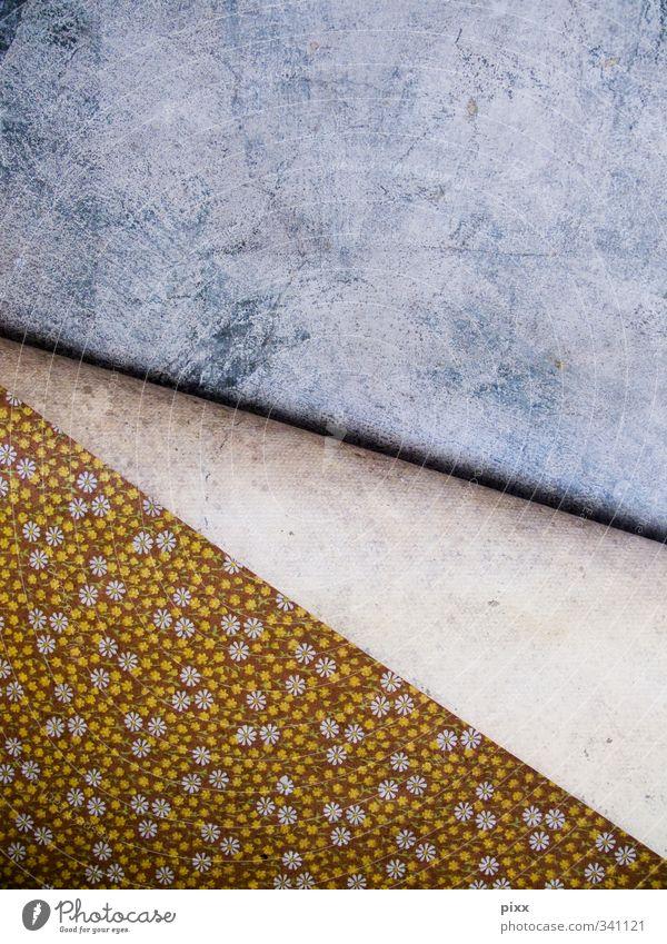 ab! alt schön gelb Wand Mauer grau Wohnung authentisch Häusliches Leben Lifestyle Beton Dekoration & Verzierung Umzug (Wohnungswechsel) Tapete hängen Renovieren